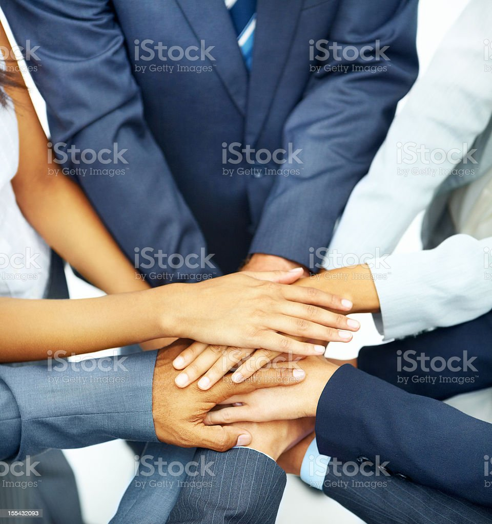 """Together, we're ready for anything!"" royalty-free stock photo"