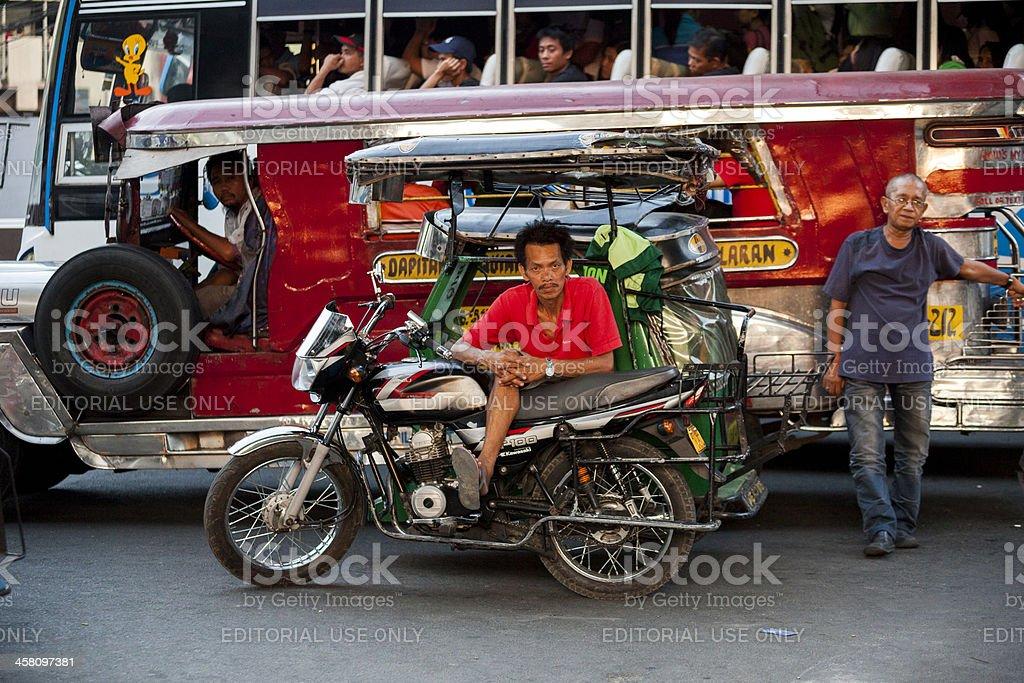 """Tricycle"" in Metro Manila royalty-free stock photo"