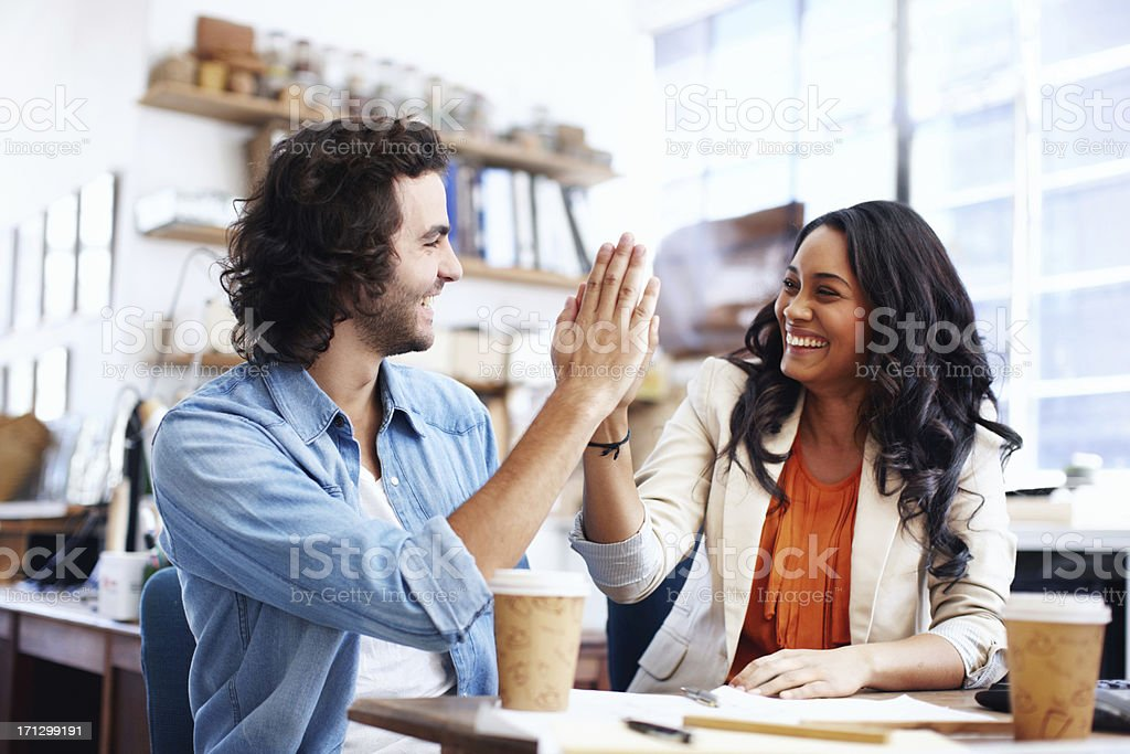 """We've done an epic job!"" - Architecture & Design royalty-free stock photo"