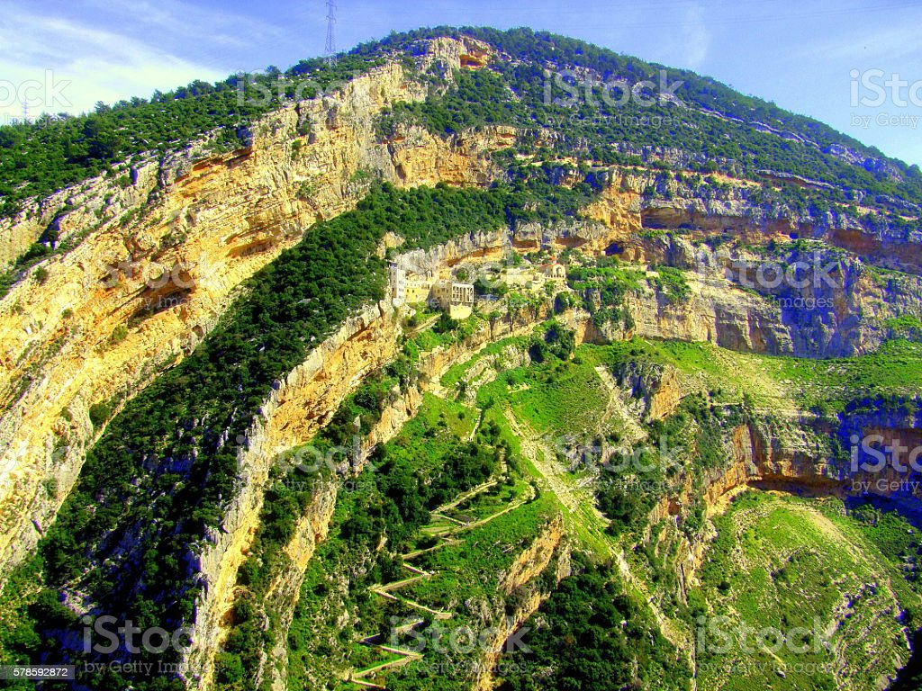 Quozhaya Monastery, Lebanon stock photo