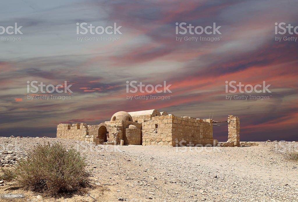 Quseir (Qasr) Amra desert castle near Amman, Jordan. stock photo
