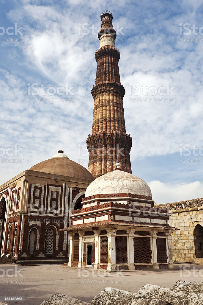 Qutab Minar stock photo