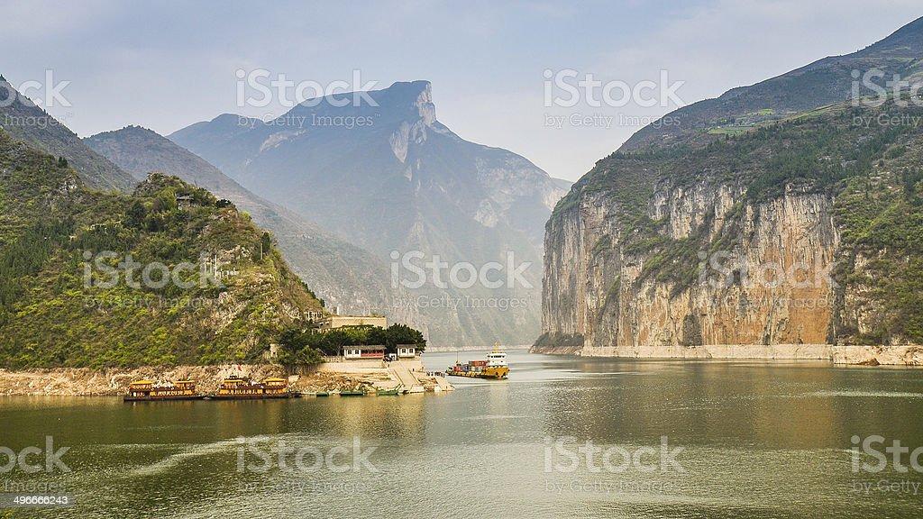Qutang Gorge and Yangtze River - Baidicheng, Chongqing, China stock photo