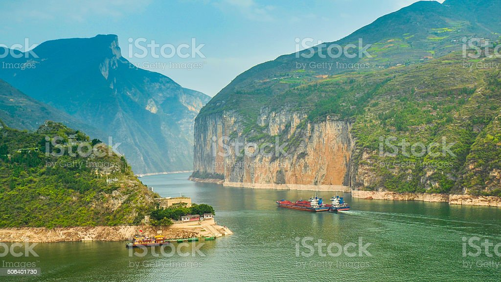 Qutang Gorge, Most Beautiful Gorge In China stock photo