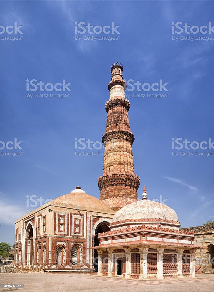 Qutb Minar, Delhi, India stock photo