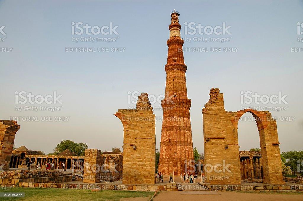 Qutb Minar in New Delhi, India stock photo