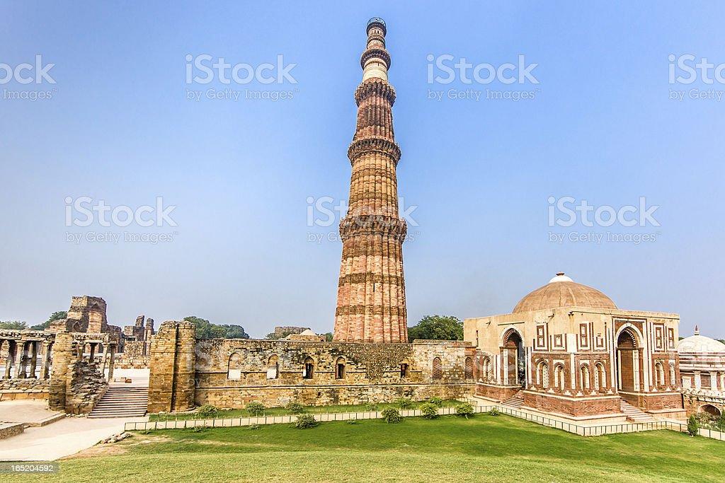 Qutub Minar Delhi India stock photo