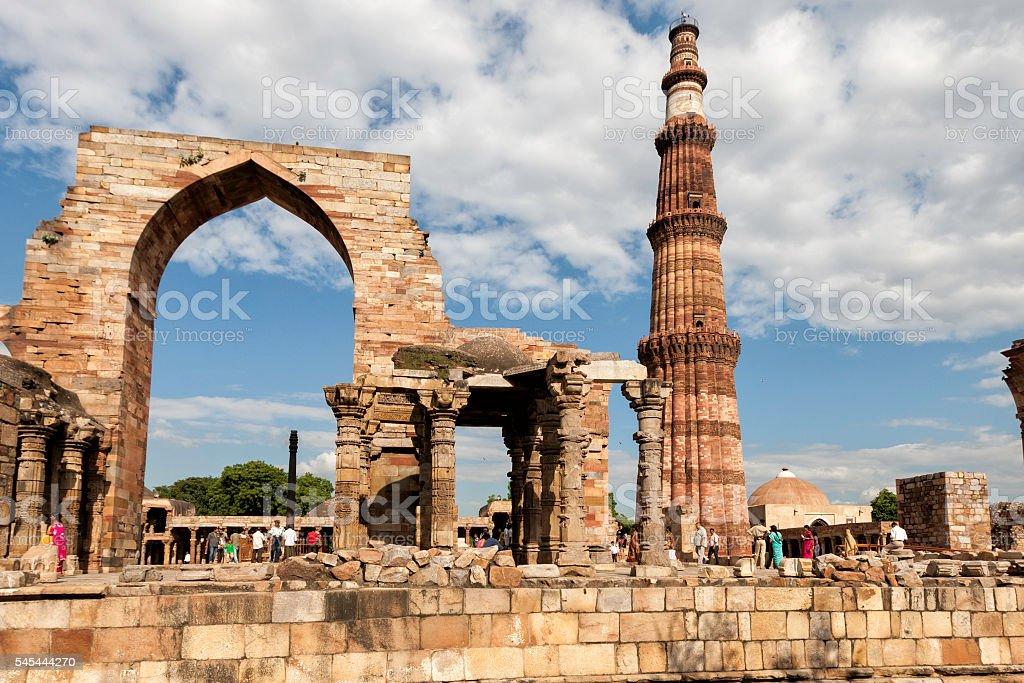 Qutub Minar, Delhi - India stock photo
