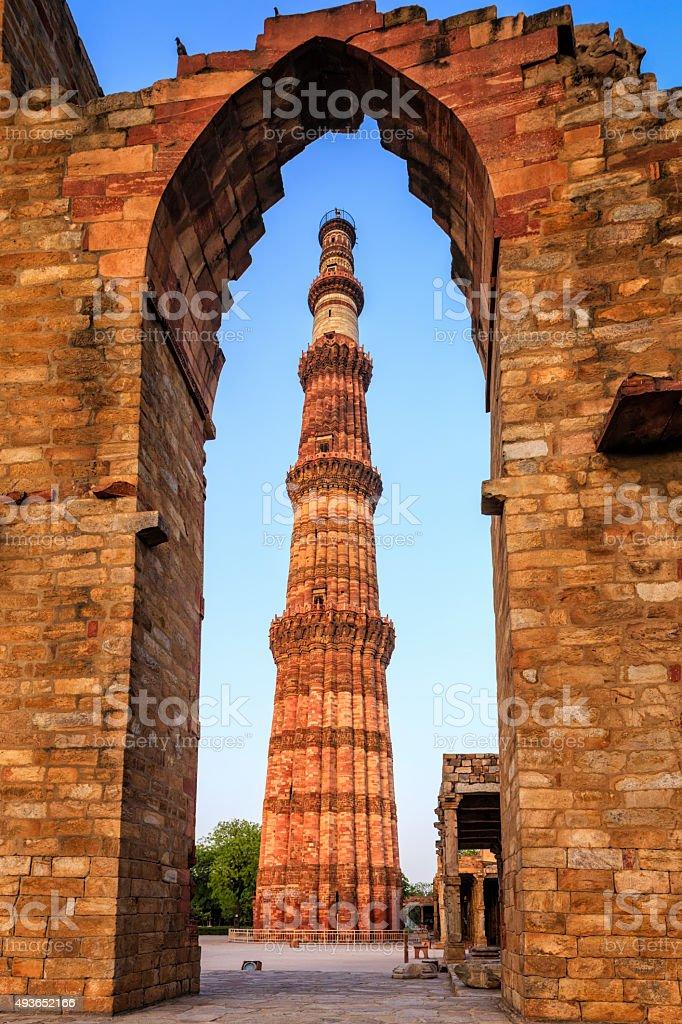 Qutub Minar, Delhi stock photo