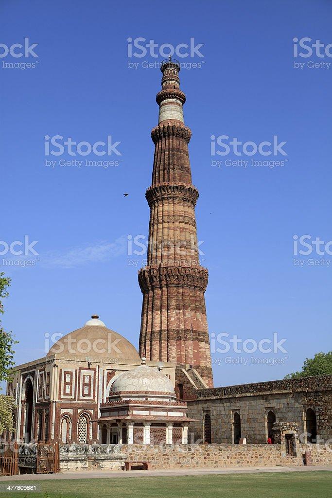 Qutub Minar, New Delhi, India royalty-free stock photo