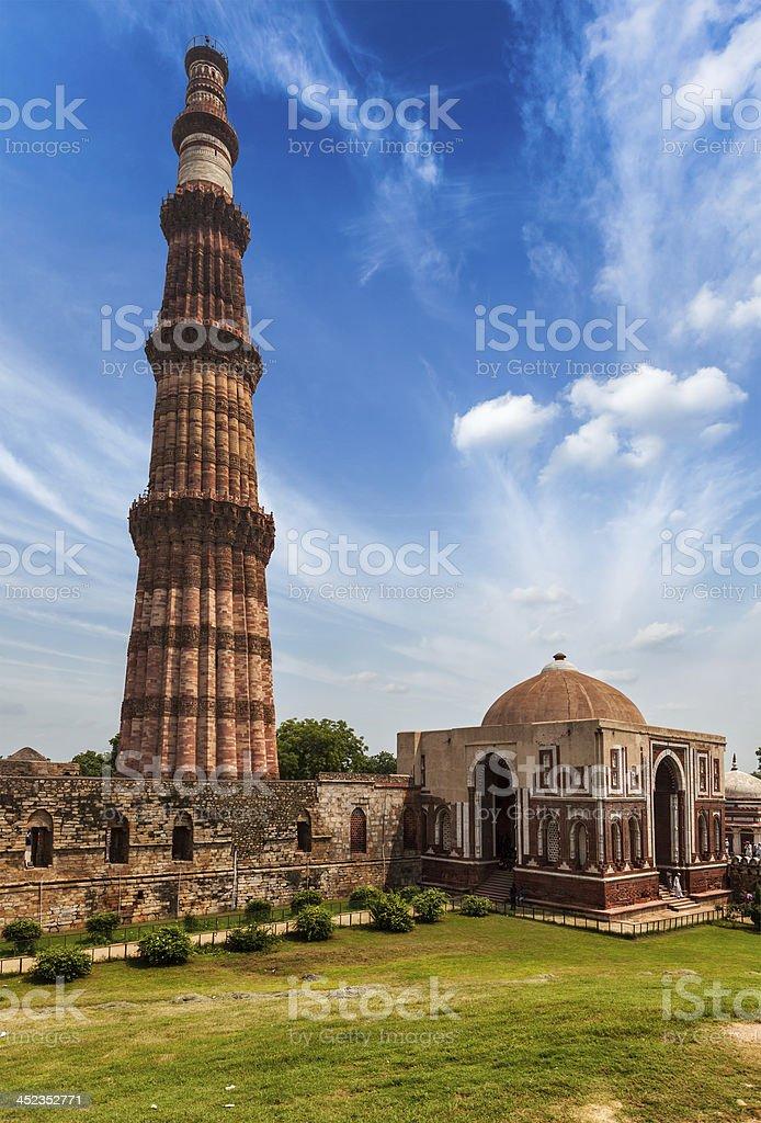 Qutub Minar stock photo