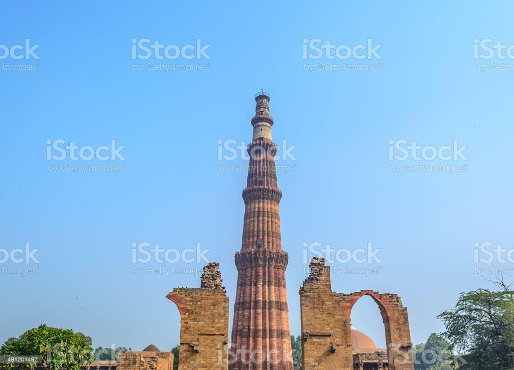 Qutub Minar premesis, Delhi, India stock photo