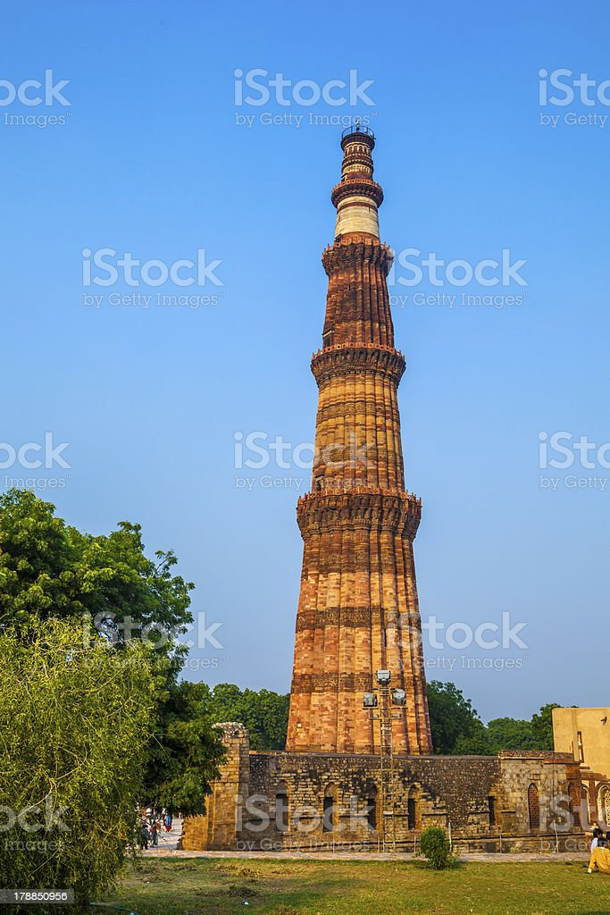 Qutub Minar Tower stock photo