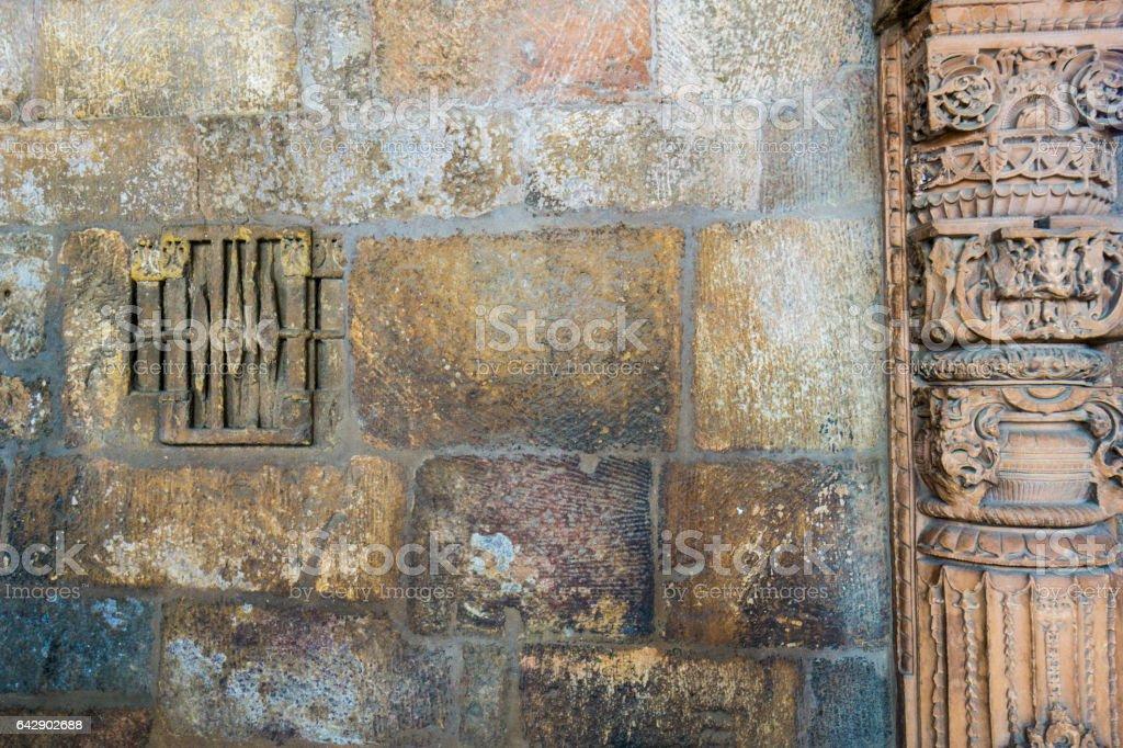 Qutub Minar wall background stock photo