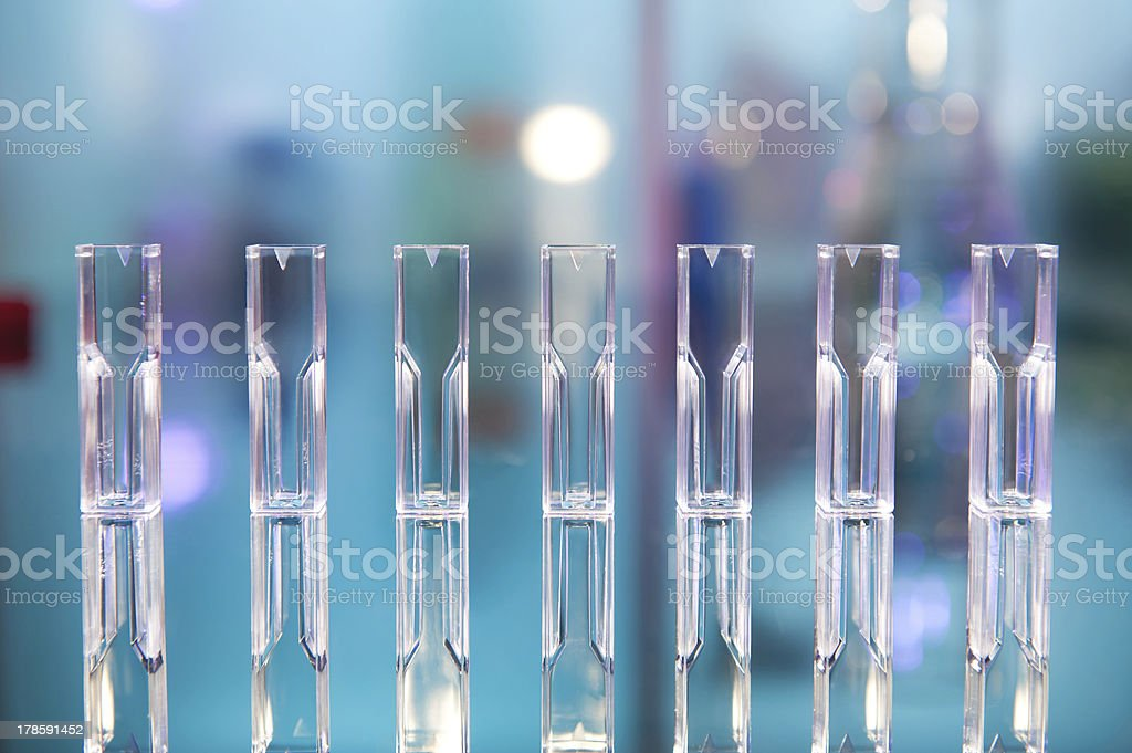 Quvettes for spectrophotometer stock photo