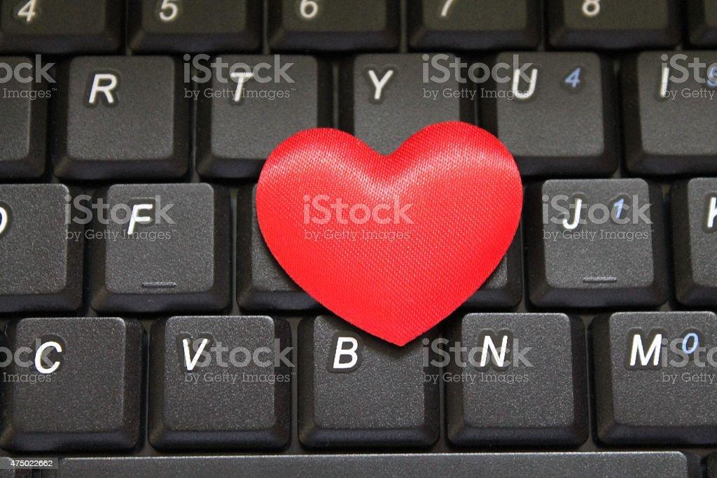 Qwerty Love stock photo