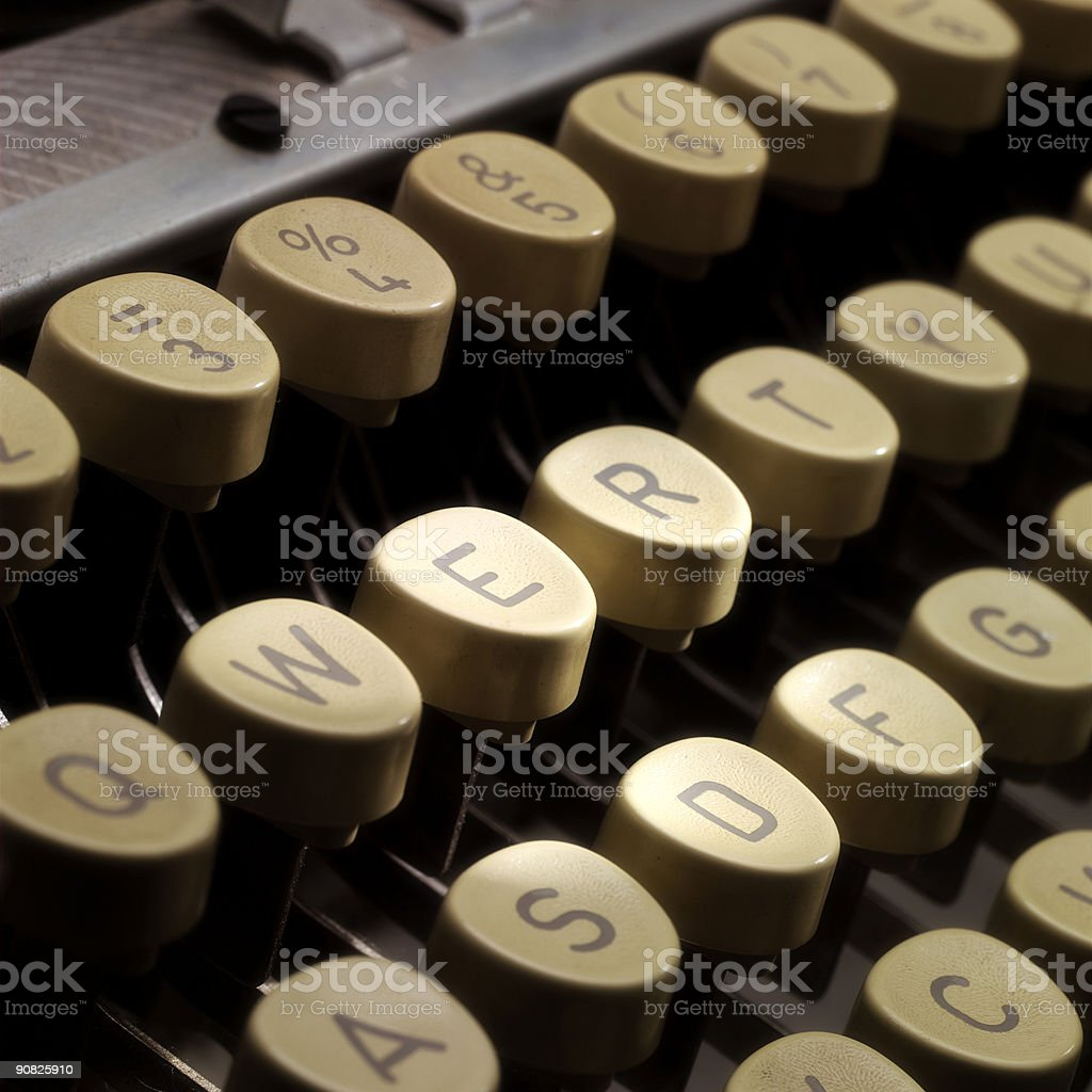 Qwerty stock photo