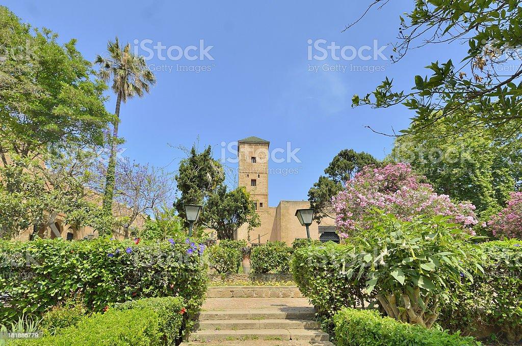 Rabat Andalusian Garden Tower royalty-free stock photo