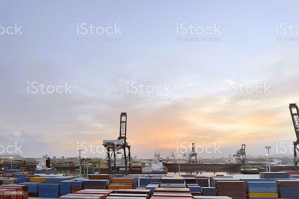 Rabat Port At Sunrise royalty-free stock photo