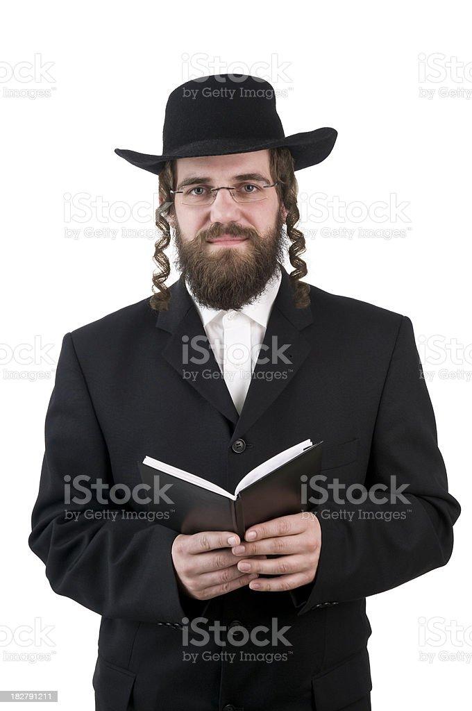 rabbi holding a book royalty-free stock photo