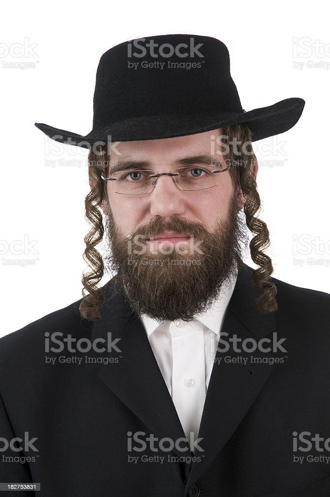 rabbi looking at camera stock photo