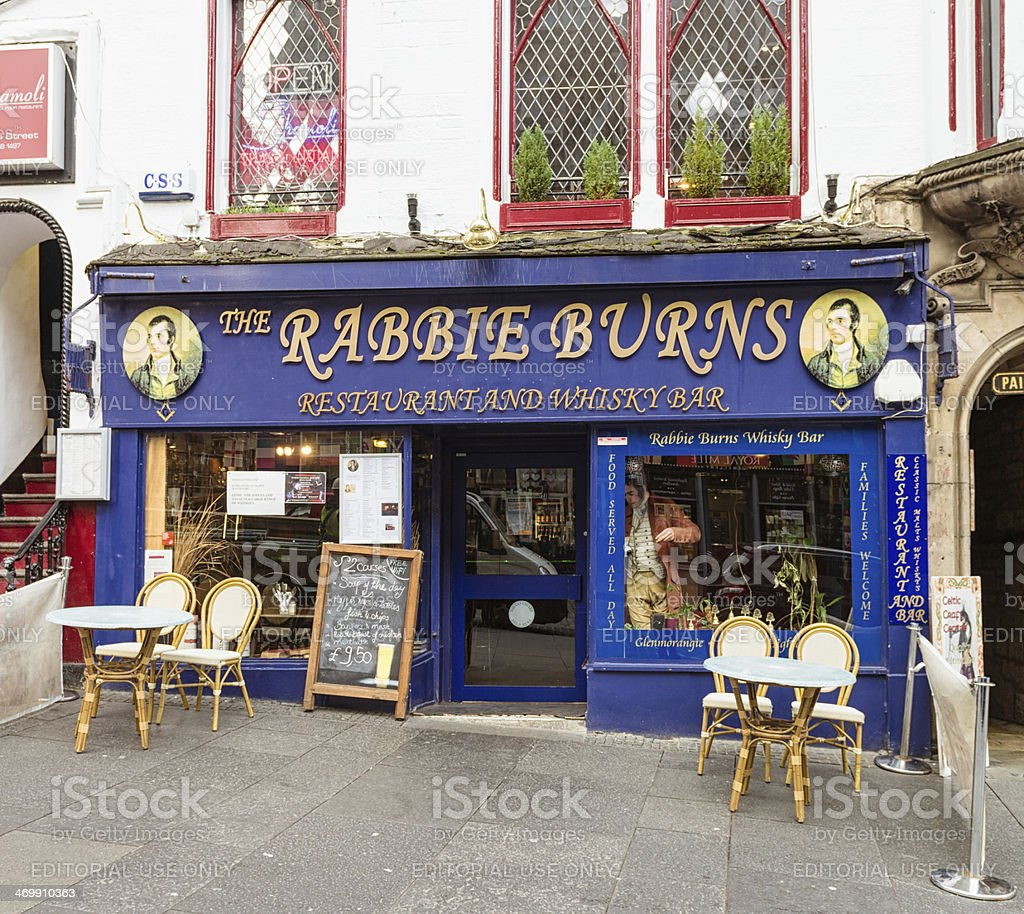 Rabbie Burns Restaurant and Bar in Edinburgh stock photo
