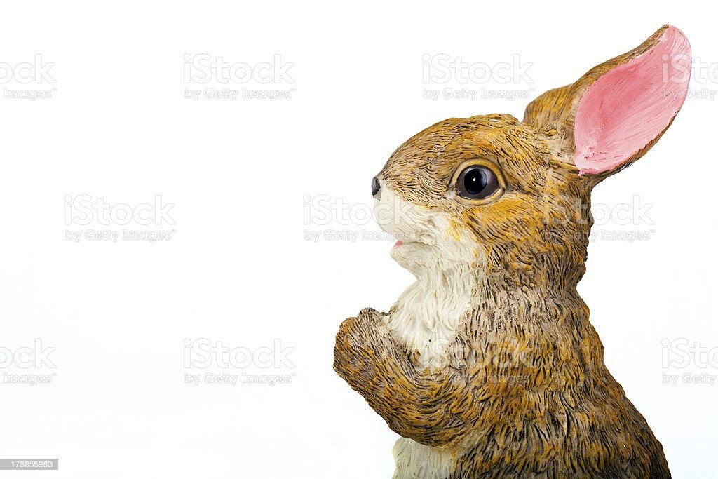 Rabbit Ceramic Sculpture royalty-free stock photo