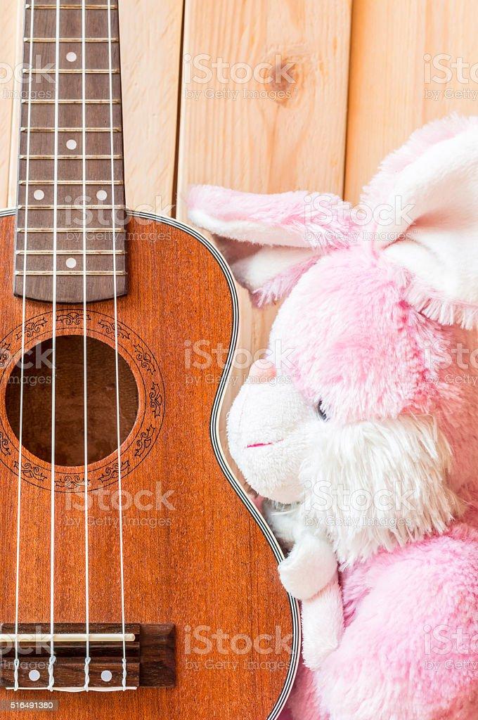 Rabbit doll stock photo