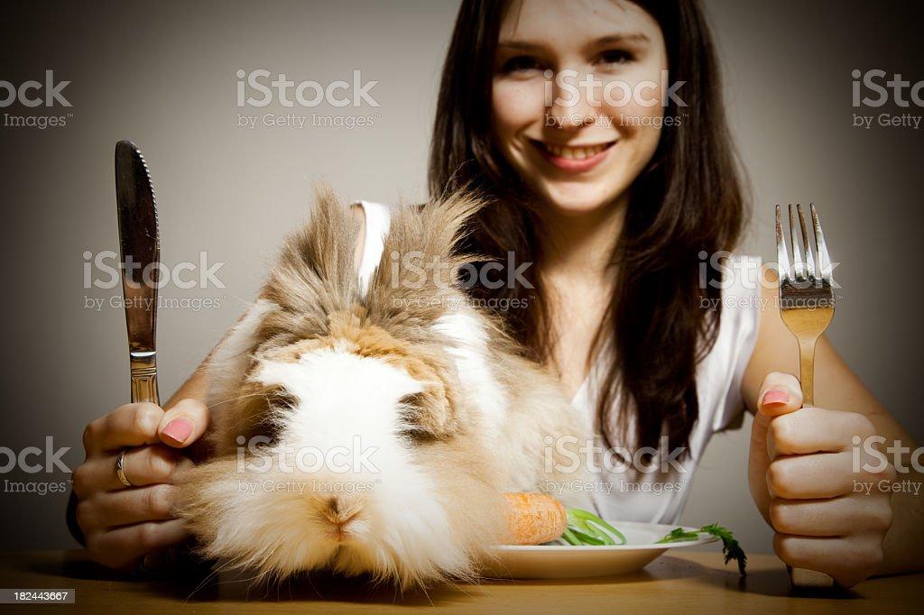 rabbit for dinner royalty-free stock photo