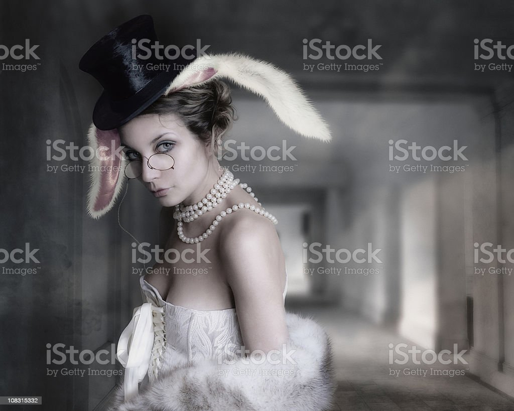 rabbit from wonderland royalty-free stock photo