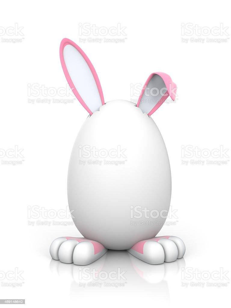 Rabbit in the egg. Female stock photo