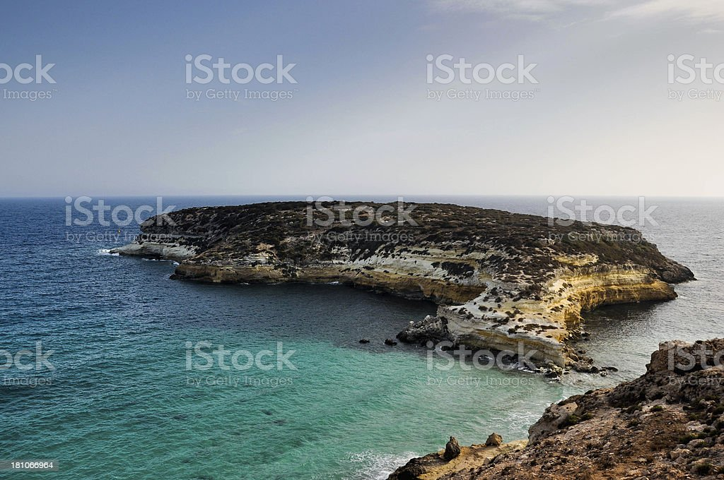 Rabbit Island, Lampedusa stock photo