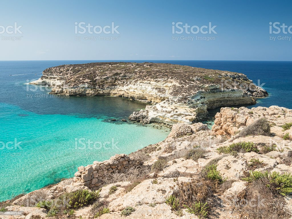Rabbit Island, Lampedusa, Sicily stock photo