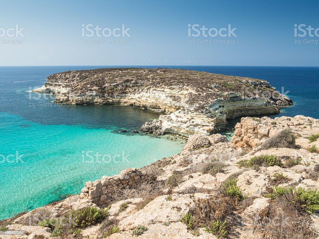 Rabbit Island, Lampedusa, Sicily stock photo