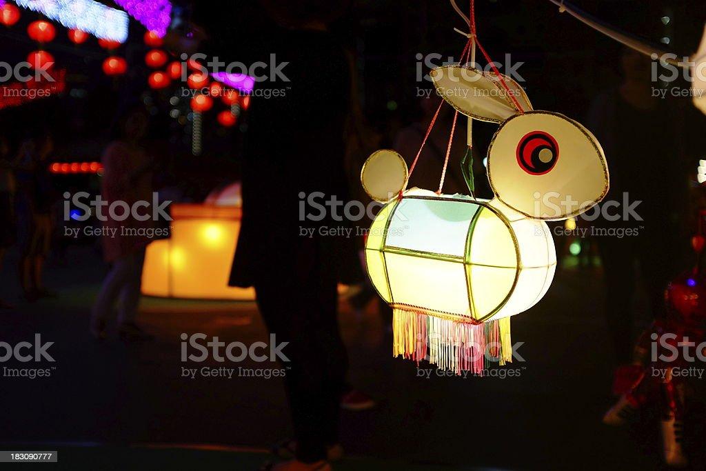 Rabbit Lantern stock photo