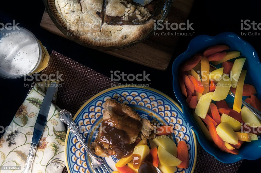 Rabbit Pie Dinner stock photo