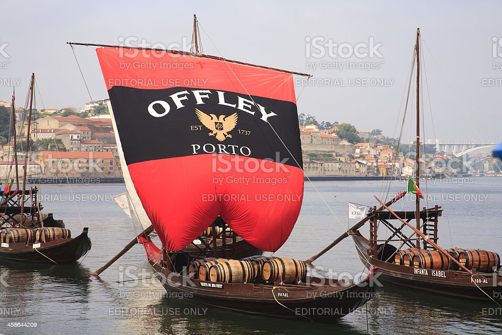 Rabelo Boat in Douro, Gaia (Oporto) stock photo
