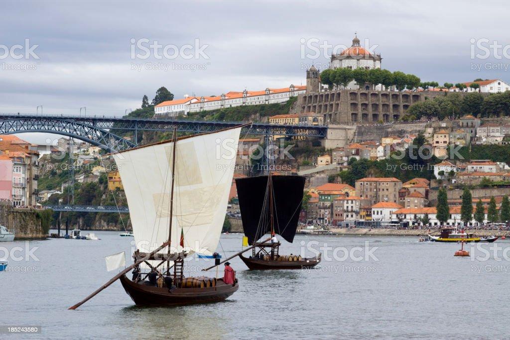 Rabelos Boat stock photo