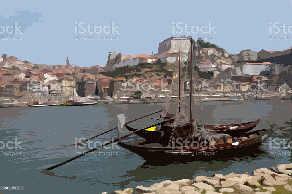 Rabelos Boat stock photo