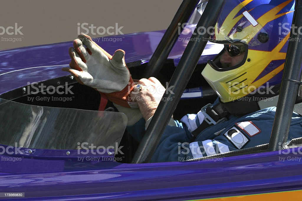 Race car driver royalty-free stock photo