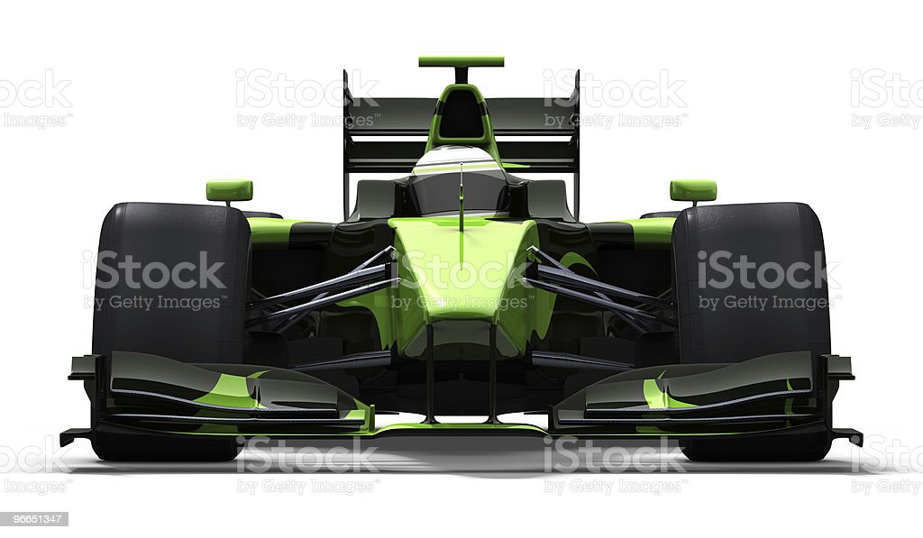 race car - green and black royalty-free stock photo