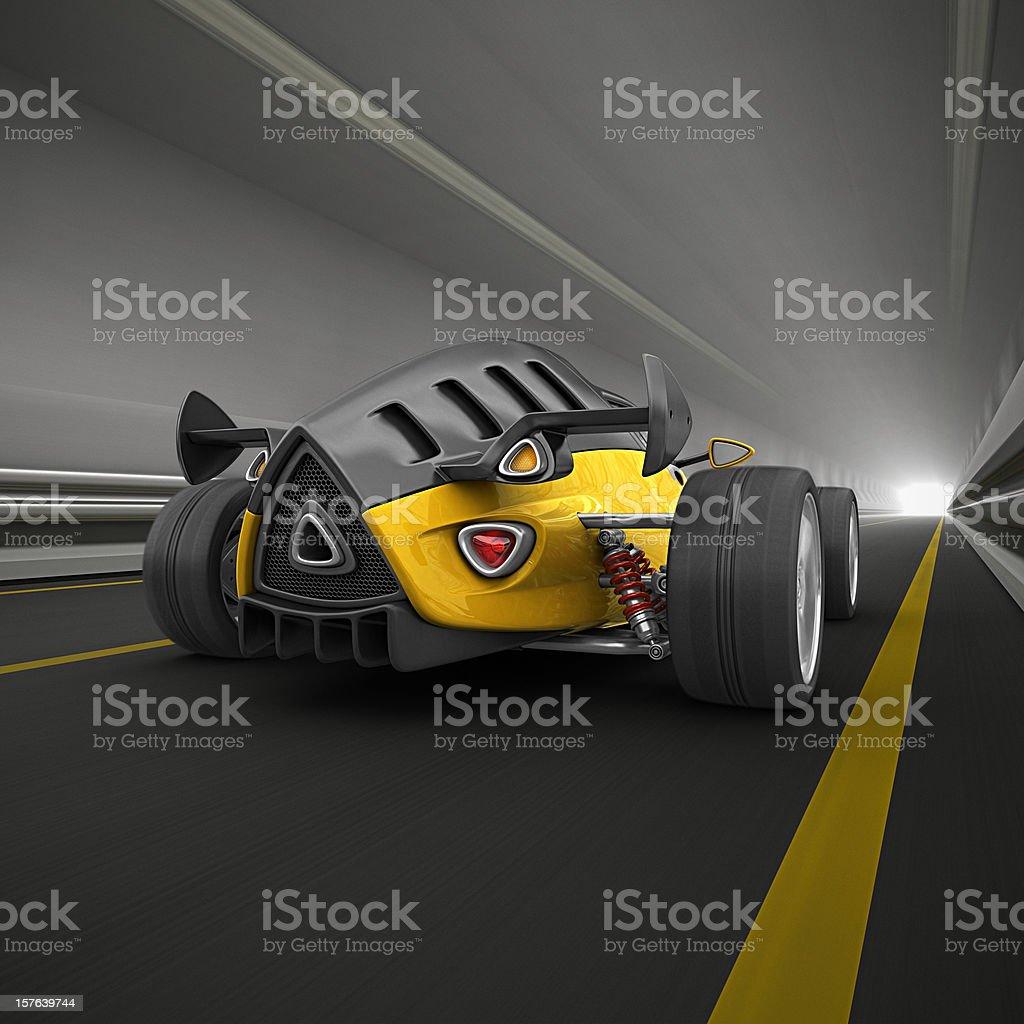 race car in tunnel stock photo