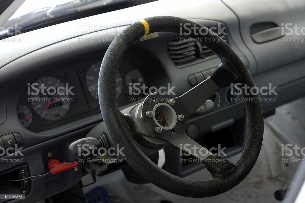 Race Car Interior royalty-free stock photo