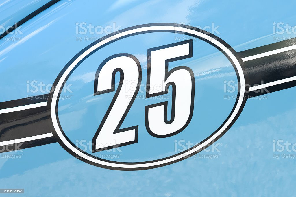 race car number 25 stock photo