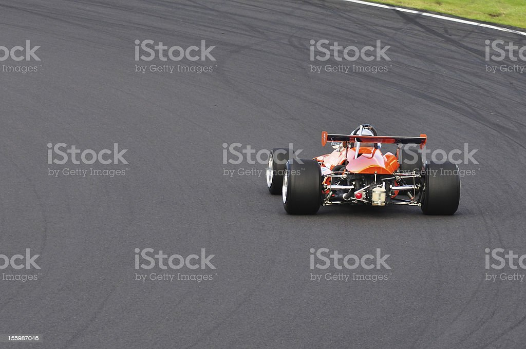 Race Car on a Track stock photo