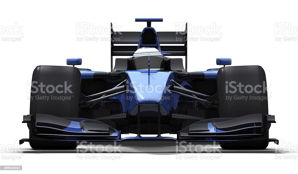 race car on white - black & blue stock photo