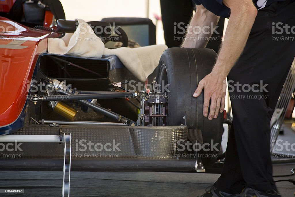 Race car preparation royalty-free stock photo