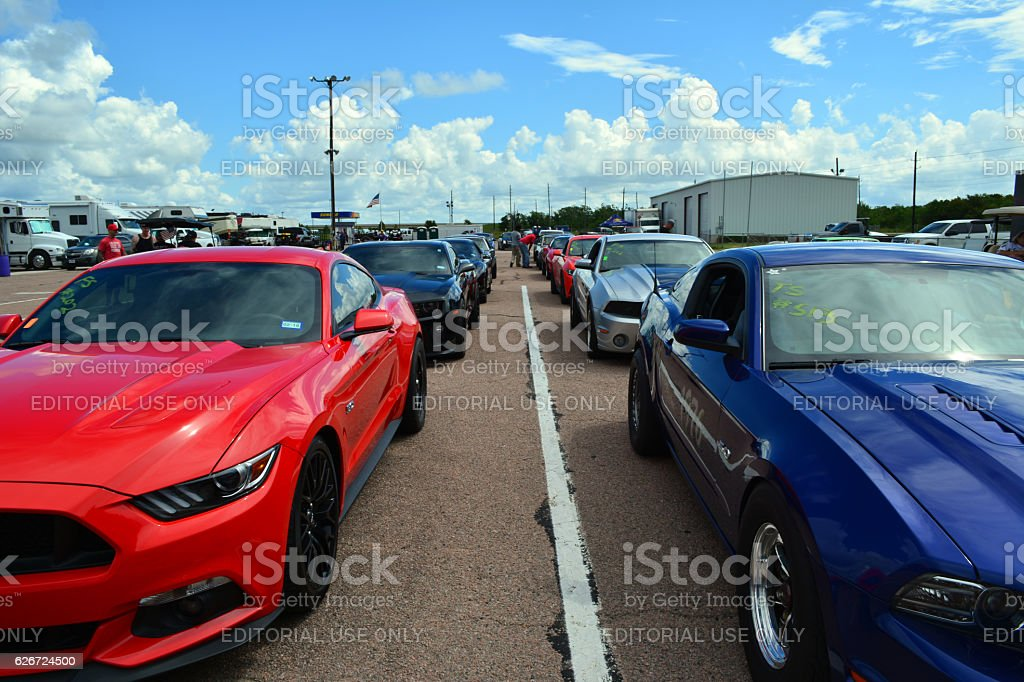 Race Cars Lined Up Stock Photo Istock
