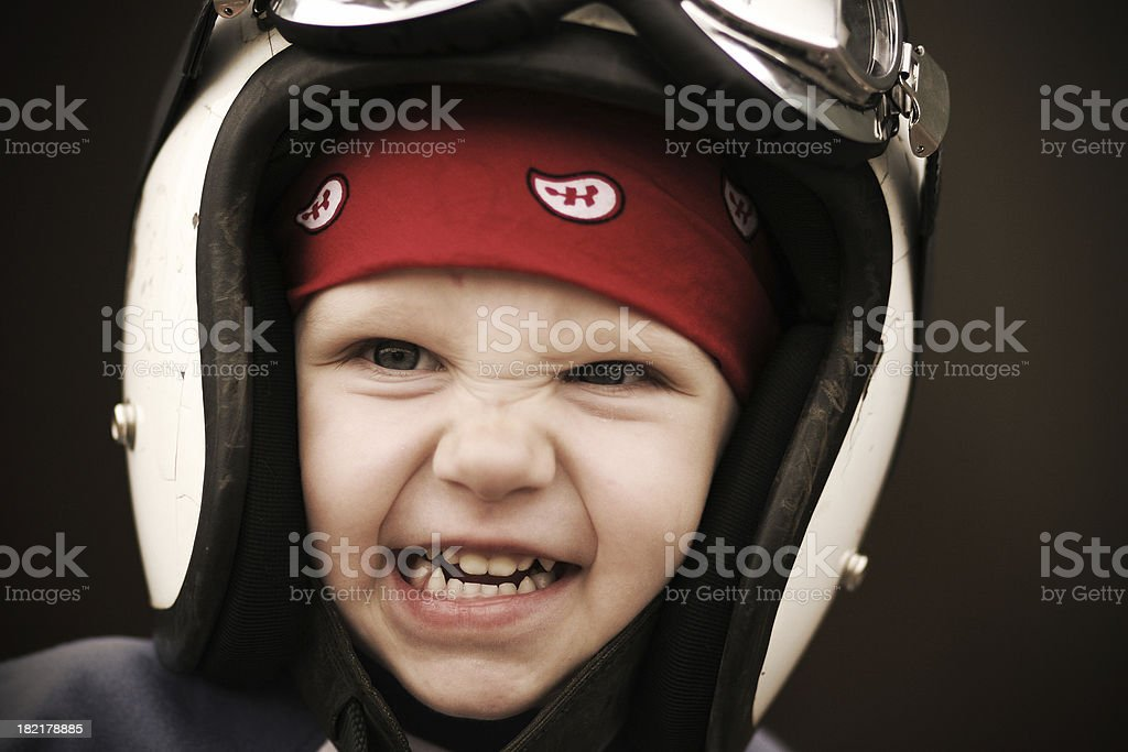 Race Face royalty-free stock photo