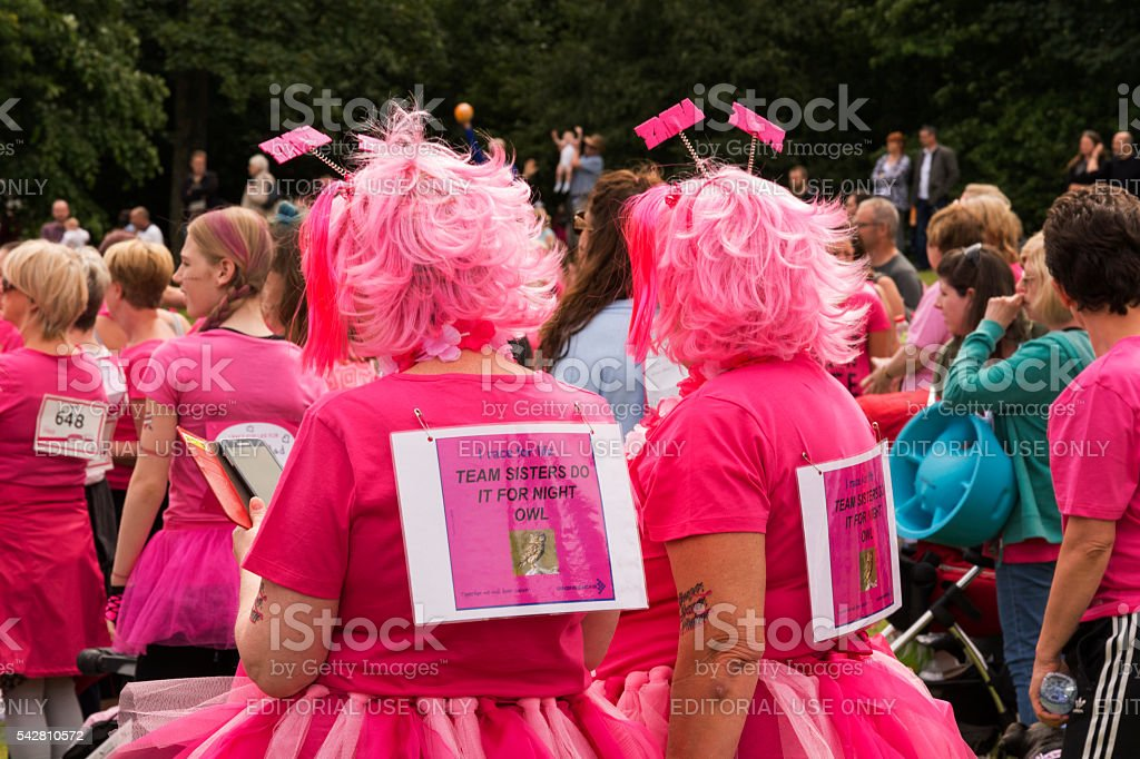 Race for Life - Charity fun run stock photo